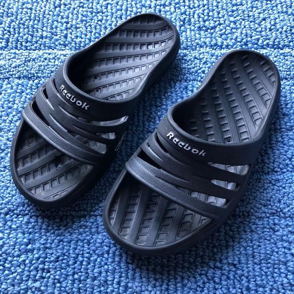 Black Reebok Slides   Poshmark